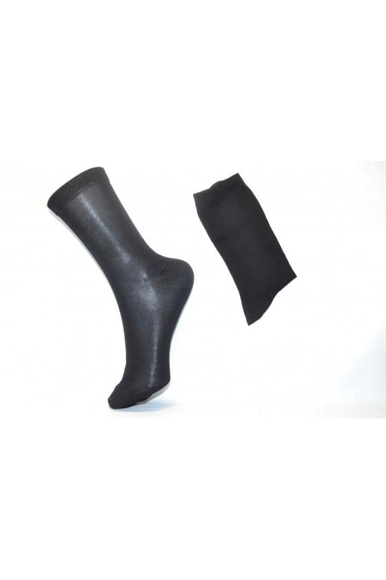 x3 Chaussettes femme, fil d' écosse noir