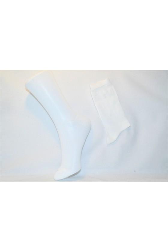 X3 Chaussettes blanches en fil d' écosse