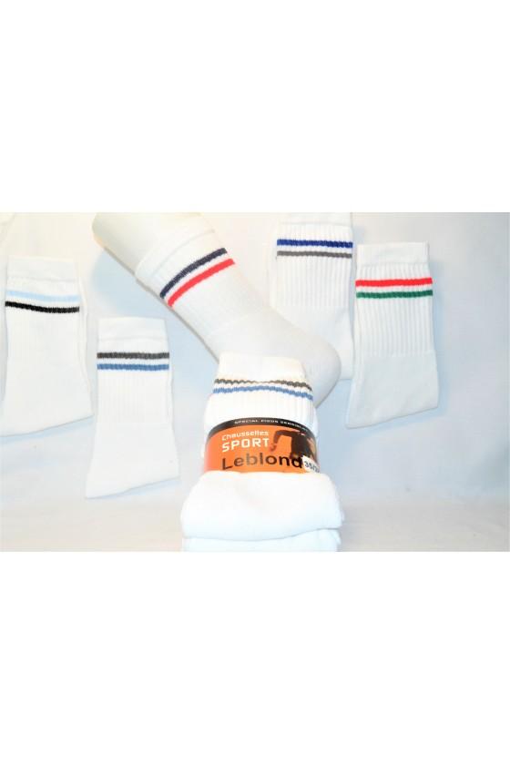x10 Chaussettes de sport blanches pas cher